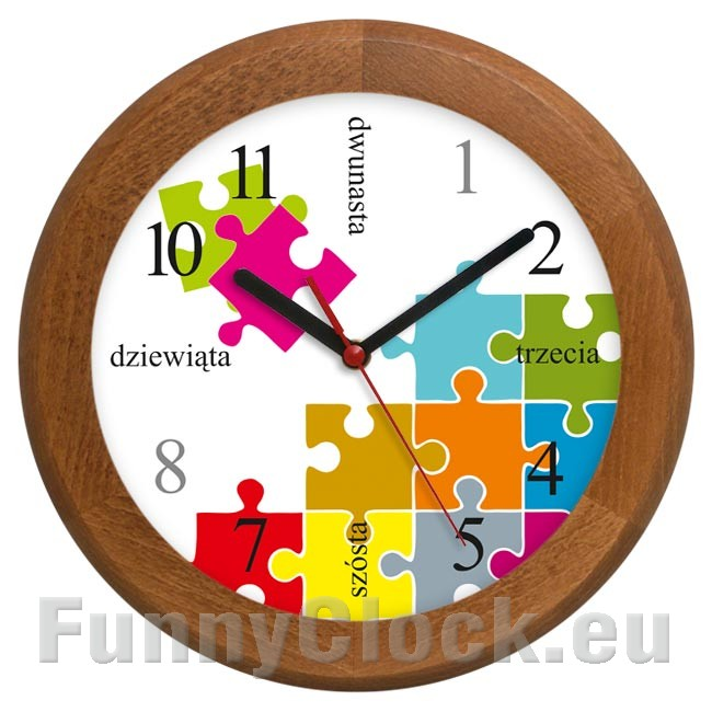 Wooden Wall Clock Solid Workaholic 1 1 1 Funnyclock