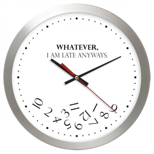 whatever aluminium  clock